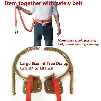 DUOSHIDA Pair of Climbers, Professional Tree Climbing Spikes Together With Belt