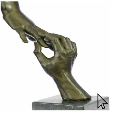 Rare Modern Art Two Hands by Dali Marb Statue Figurine Bronze Sculpture Figure