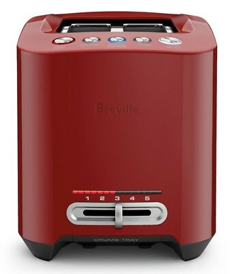Pay$128* Breville BTA830CRN the Smart Toast™ 4 Slice Long Slot Toaster Cranberry