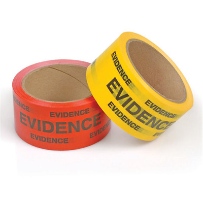 NEW! Crime Scene Evidence Box Sealing Tape, Red 3-4302