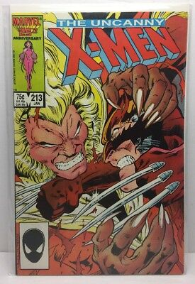 The Uncanny X-Men #213 (Jan 1987, Marvel) VF/NM.  INV# B5