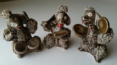 Vintage 1950s Thames Spaghetti Poodle Conductor & Band LOT of 3 dogs numbered