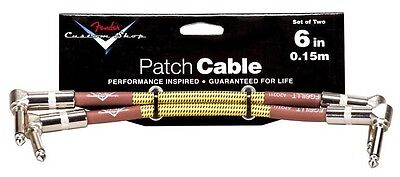 """Fender Custom Shop Lead 6"""" (0.15m) Tweed Guitar Patch Cable x2"""