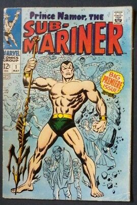 Prince Namor the Sub-mariner #1 PRESSED tight staples & White pages 5.5 FINE-