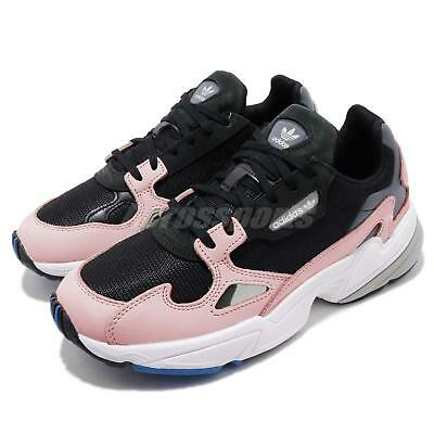 online retailer e087c 5655c adidas Falcon W Kylie Jenner Black Pink Womens Shoes Chunky Sneakers B28126