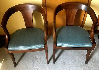 (2) Kittenger Mid Century BENT WOOD CHAIRS L.S. Ayres