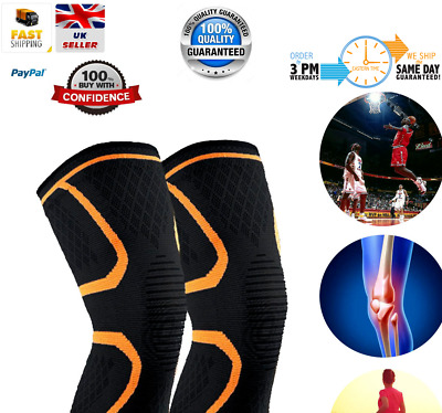 2X Compression Knee Support Sleeve Bandage Strain/sprain Injury Running Uk