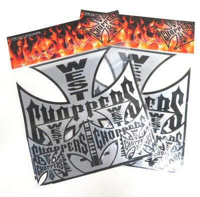 Jesse James West Coast Choppers Die Cut Stickers - Two Packs of Five Stickers