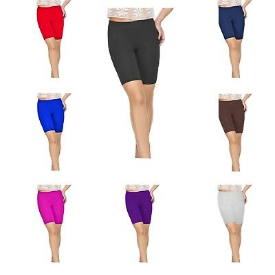 Cotton Girls Kids Elasticated Knee Stretch Cycling Shorts
