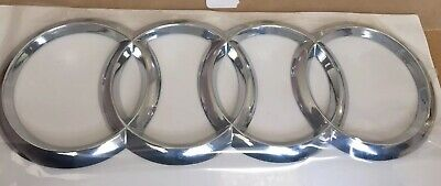 AUDI RINGS Chrome REAR BOOT TRUNK BADGE EMBLEM 192mm X 63mm FITS TT Q A R series