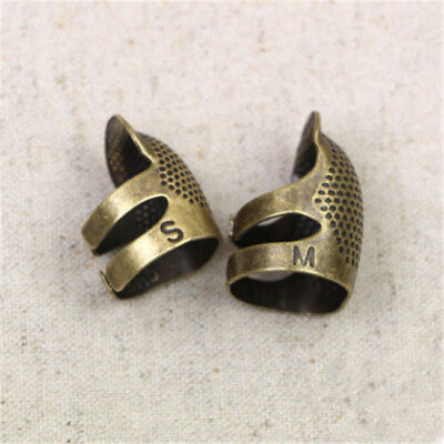 Practical Tool Thimble Sewing Finger Metal Antique Protector Brass Needles CB
