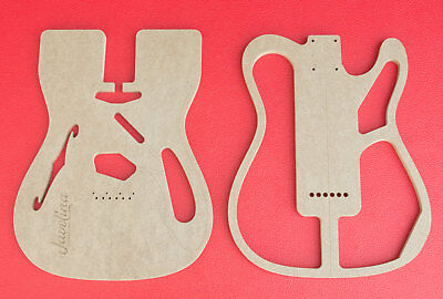 "Thinline Telecaster Body Router Templates CNC Luthier Tools 1/2"" MDF 0.5"" Fender"