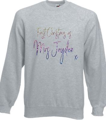 First Christmas as a Daddy Sweatshirt JH030 Sweater Jumper New Dad Xmas Gift
