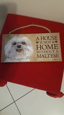Hanging MALTESE sign w/painted artwork
