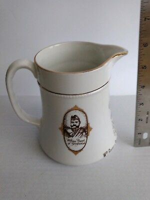 Burleigh Ware Pottery HCW Glenfiddich Scotch Whiskey Water Pitcher Great Britain
