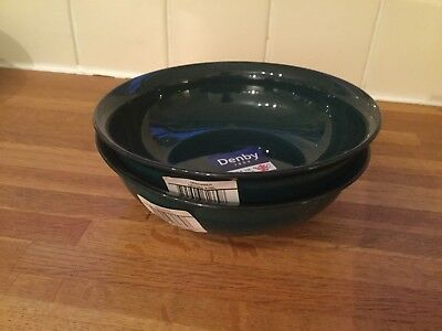 Denby - Greenwich- Large Side Bowl/ Small Cereal Bowl x 2 - BRAND NEW