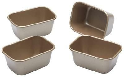 Kitchen Craft Paul Hollywood Non-Stick Mini Loaf Tins, 9 x 6 cm (Set of 4)