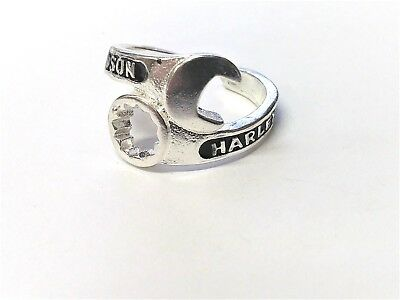 Wrap Style Harley Davidson Wrench & Spanner Ring Biker Motorcycle Size 8
