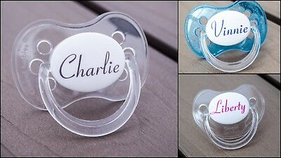 Personalised Dummy, Avent Tommee Tippee Mam, All Teats & Sizes, Conneticut Font