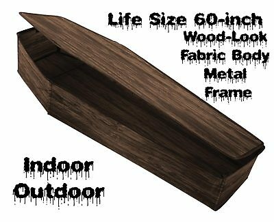 Life Size POP-UP INSTANT COFFIN PROP w-LID Haunted House Cemetery Decoration-5ft