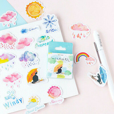 Cute Weather Mixed Stickers Seal Labels Laptop Scrapbooking Craft Decals Decor