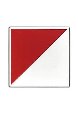 """12 Georges Briard Red & White Enameled Tiles 1960s NOS! 6""""x6"""""""
