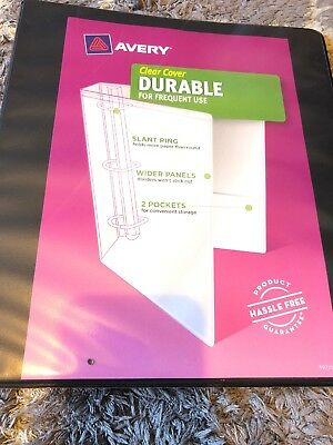 set of 5 avery durable clear cover 1 binder notebook white 220