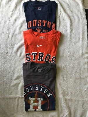 3 Houston Astros Adult T-Shirts Shirt Size Small