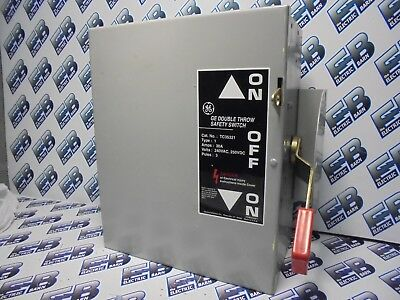 Ge Tc35321 Model 8 30 Amp 240 Volt Double Throw Switch- Ats301
