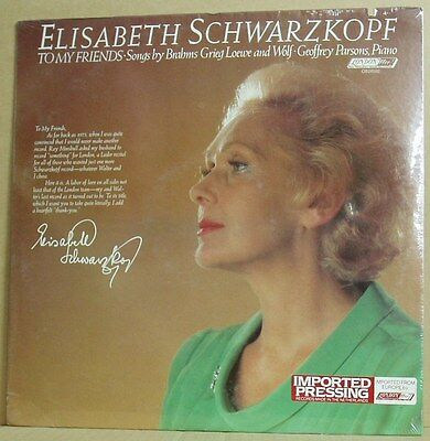 LP Elisabeth Schwarzkopf To My Friends Brahms Wolf..G. Parsons  London 81 sealed