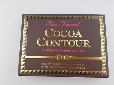 Too Faced BNIB Cocoa Contour Palette Chiseled to Perfection Powder 100%AUTHENTIC
