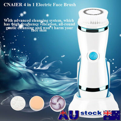 4 in 1 Electric Facial Cleansing Brush Skin Face Body Care Cleanser Waterproof