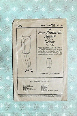 Vintage New Butterick Pattern Bloomers Sz 36 waist 45 hip 1920s-30s ?