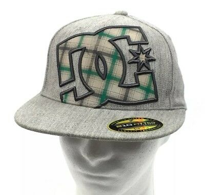 7b7b24a3 DC HAT 210 Fitted By Flex Fit Wool Blend Cap Black Green Size 6 1/2 ...