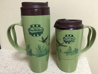 Tim Hortons Coffee Thermo Serv Insulated Travel Mugs - Geese 16 and 20 Ounce