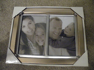 New Burnes Of Boston Brushed Silver Metal Picture Box 4x6 Photo