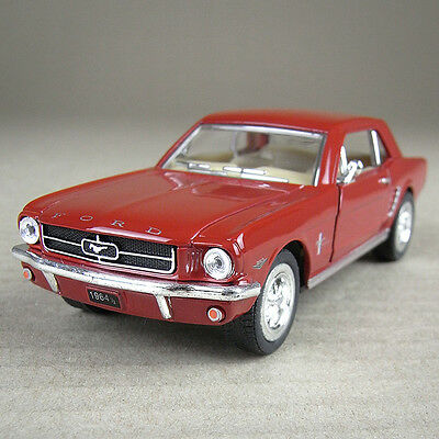Red Ford Mustang 1964 1/2 Die-Cast Detailed Model Car 1:36 Scale Pull-Back