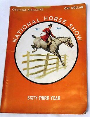 1946 National Horse Show at Madison Square Garden in New York City Program