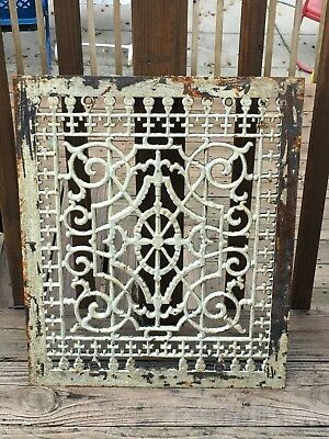 Antique Cast Iron Floor Grate  22 by 18 Inches and about an inch Depth