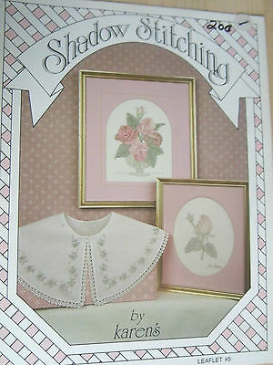 Embroidery Stitching Floral Pattern Leaflet