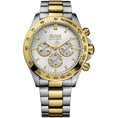 New Hugo Boss 1512960 Mens Two Tone Chronograph Watch - 2 Years Warranty