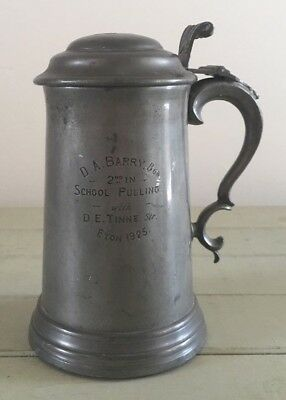 antique rare Eton College pewter Rowing tankard 1925, rowing, loving cup