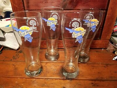 Blue Moon Beer Glasses 16 oz PINT Set of 4