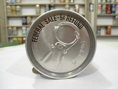 """No Book Budweiser Silver Test Beer Can 1 City """" Federal Sale """" .. Air Sealed"""