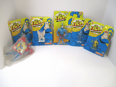 The Tick Collectible Figures Lot Of 6 Pieces 1994 BanDai-5 BanDai-1-Other SEALED