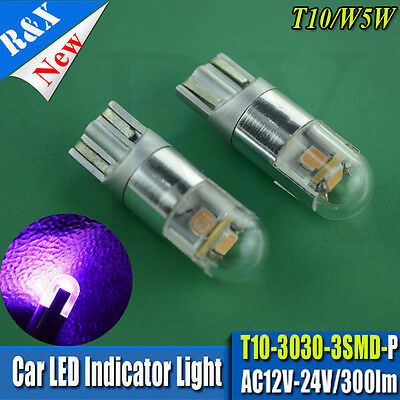 4X Wedge LED 3030 SMD TRUCK Car Side Light Sidelight Lamp Bulb T10 W5W 501 PINK