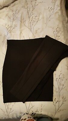 Size M Seraphine Black Bodycon Maternity Skirt & Size 12 Black Slim fit trousers