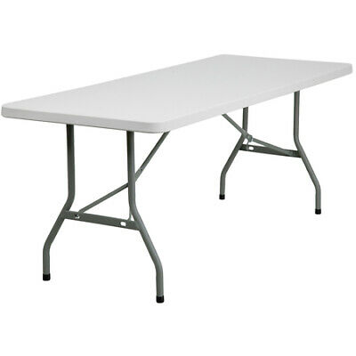 "Bi-Fold Table,Plastic, Wht,30""W x 72""L  FLASH FURNITURE RB-3072-GG"