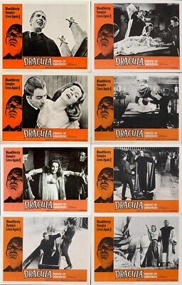 DRACULA: PRINCE OF DARKNESS (1966) CHRISTOPHER LEE Complete Set of 8