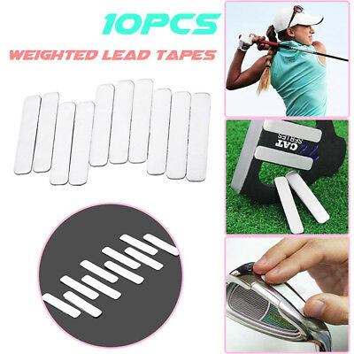 10Pcs Adhesive Lead Tape to Add Swing Weight For Golf Tennis Racket Iron Putter